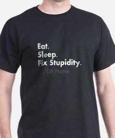 Eat sleep ER Nurse Darks.PNG T-Shirt
