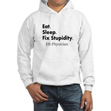 Eat sleep ER doc Light shirts.PNG Jumper Hoody