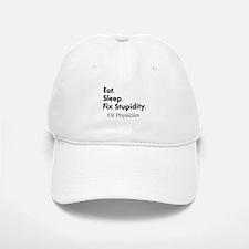 Eat sleep ER doc Light shirts.PNG Baseball Baseball Cap
