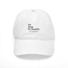 Eat sleep ER doc Light shirts.PNG Baseball Cap