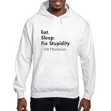 Eat sleep ER doc Light shirts.PNG Hoodie