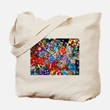 Lets Roll - Colourful Dice Tote Bag