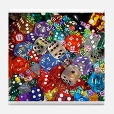 Lets Roll - Colourful Dice Tile Coaster