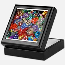 Lets Roll - Colourful Dice Keepsake Box