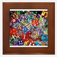 Lets Roll - Colourful Dice Framed Tile