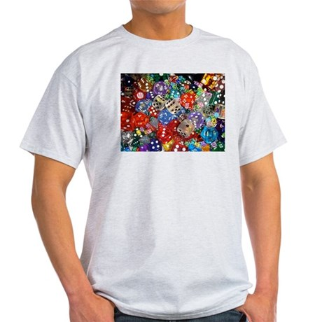 Lets Roll - Colourful Dice Light T-Shirt