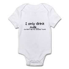 I only drink milk... (black) Infant Creeper
