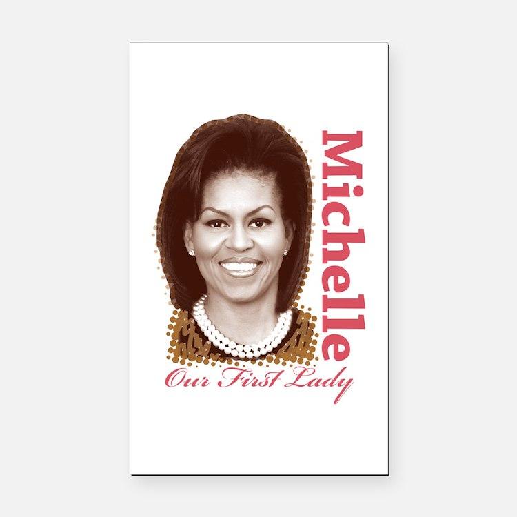 Michelle Obama Rectangle Car Magnet