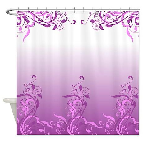 purple floral design shower curtain by stolenmomentsph. Black Bedroom Furniture Sets. Home Design Ideas