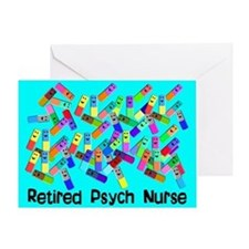 Retired Psych Nurse BLUE BLANKET.PNG Greeting Card