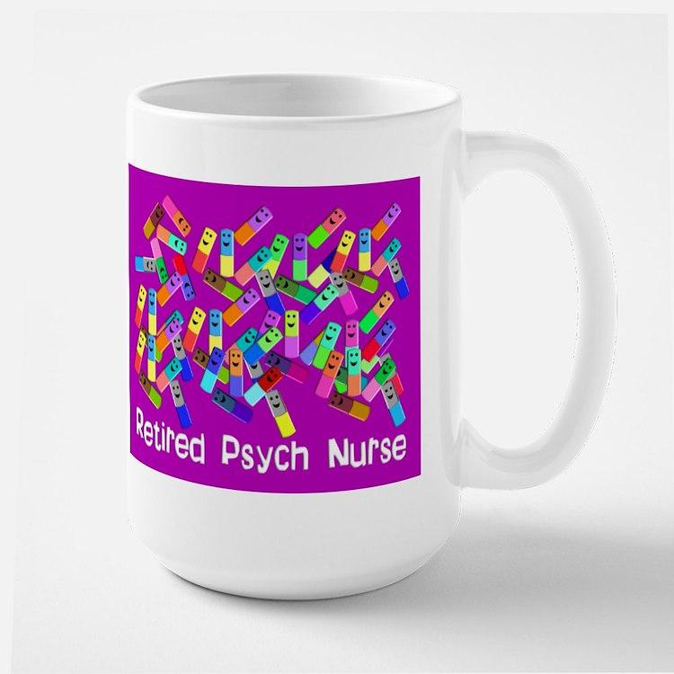 Retired Psych Nurse FUSCHIA LARGE.PNG Mug
