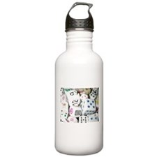 Lets Roll - White Dice Water Bottle