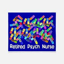 Retired Psych Nurse Blanket.PNG Throw Blanket