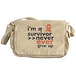 Uterine Cancer I am a Survivor Messenger Bag