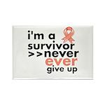 Uterine Cancer I am a Survivor Rectangle Magnet (1