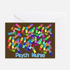 Psych Nurse Blanket Size.PNG Greeting Cards (Pk of