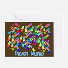 Psych Nurse Blanket Size.PNG Greeting Card