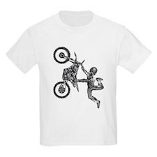 dirt-biker-motocross-freestyle-fly-grey T-Shirt