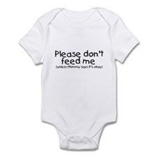 Please don't feed me... (black) Infant Creeper