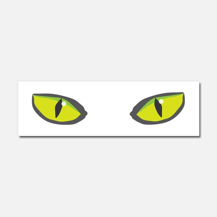 Yellow green cat eyes - halloween Car Magnet 10 x