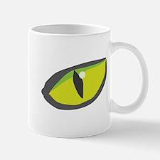 Yellow green cat eyes - halloween Mug