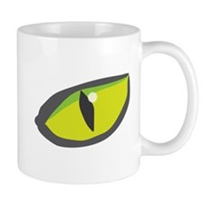 Yellow green cat eyes - halloween Mug