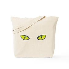 Yellow green cat eyes - halloween Tote Bag
