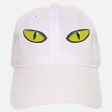 Yellow green cat eyes - halloween Baseball Baseball Cap