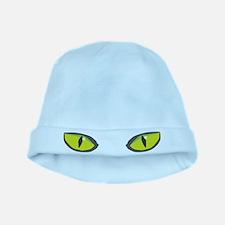 Yellow green cat eyes - halloween baby hat