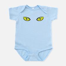 Yellow green cat eyes - halloween Infant Bodysuit