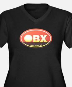 OBX Outer Banks Sunset Women's Plus Size V-Neck Da