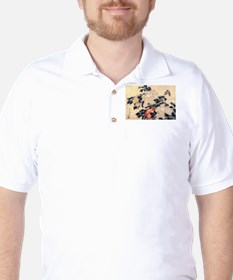 Hokusai Peonies and Butterfly T-Shirt