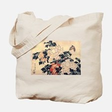 Hokusai Peonies and Butterfly Tote Bag
