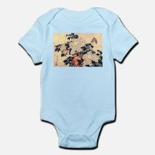 Hokusai Peonies and Butterfly Infant Bodysuit