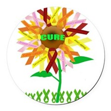 Cure Cancer Round Car Magnet