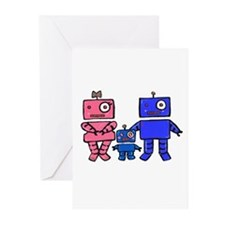 Robot Family Greeting Cards (Pk of 10)