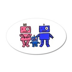 Robot Family Wall Decal