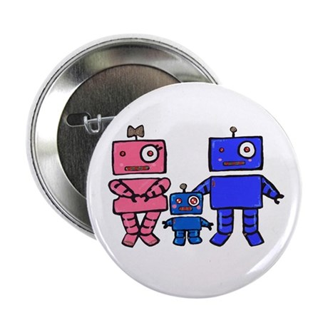 "Robot Family 2.25"" Button (100 pack)"