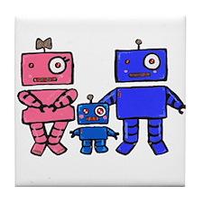 Robot Family Tile Coaster