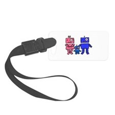 Robot Family Luggage Tag