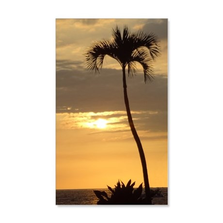 Lone Palm Sunset - 35x21 Wall Decal