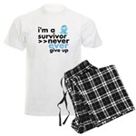 Never Give Up Prostate Cancer Men's Light Pajamas