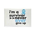 Never Give Up Prostate Cancer Rectangle Magnet (10