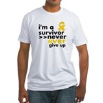 Never Give Up Neuroblastoma Fitted T-Shirt