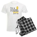 Never Give Up Neuroblastoma Men's Light Pajamas