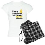 Never Give Up Neuroblastoma Women's Light Pajamas