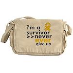 Never Give Up Neuroblastoma Messenger Bag