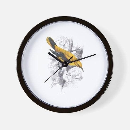 Golden Oriole Bird Wall Clock