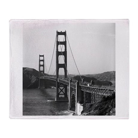Vintage Golden Gate Bridge Throw Blanket
