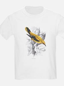 Golden Oriole Bird (Front) Kids T-Shirt
